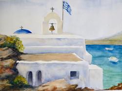 Greek Church By the Sea