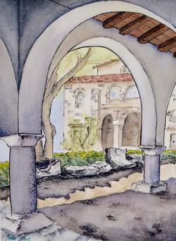 Greek Church Courtyard