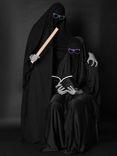 Abdullah AL Saab, Bullying, LACMA, Exhibition, Kuwait Art, Veil, Art Photography, Middle east Art Photographers, Women Photography, Culture,