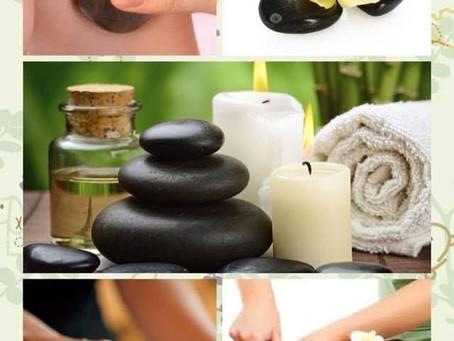 การนวดด้วยหินร้อน-หินเย็น (Hot or Cold Stone Massage)