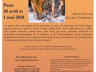 Master class - Gloria Giordano et Les Corps Éloquents  / Les nymphes dansent à l'italienne