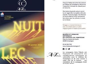 Nuit de la Lecture au Château de Compiègne pour ce début d'année 2020