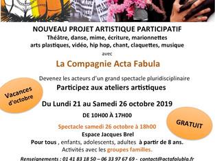 Acta Fabula était au Forum de rentrée de Romainville ce dimanche 8 septembre 2019 !