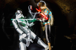 groupe personnages star wars light painting2