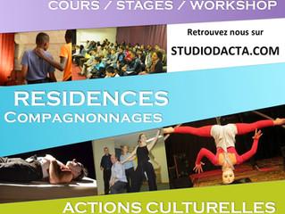 Le StudiO d'Acta ouvre sa programmation artistique et culturelle