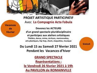 Le Studio d'Acta sera présent au forum des associations de Romainville pour présenter ses activi