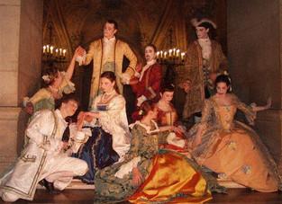 Acta Fabula costume tous les invités d'une soirée de gala