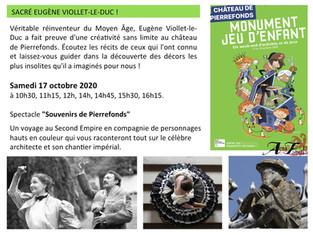 Samedi 17 Octobre . Acta Fabula met en scène le patrimoine
