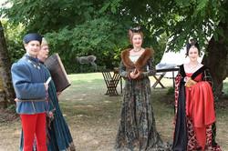 Marie d'Anjou et sa cour
