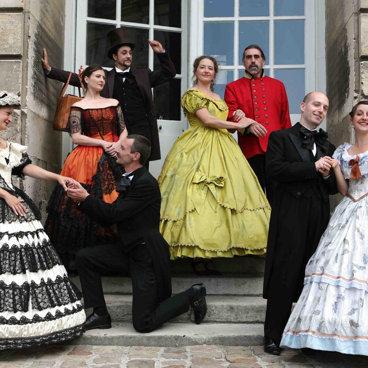 Groupe de personnages Palais de Compiègn
