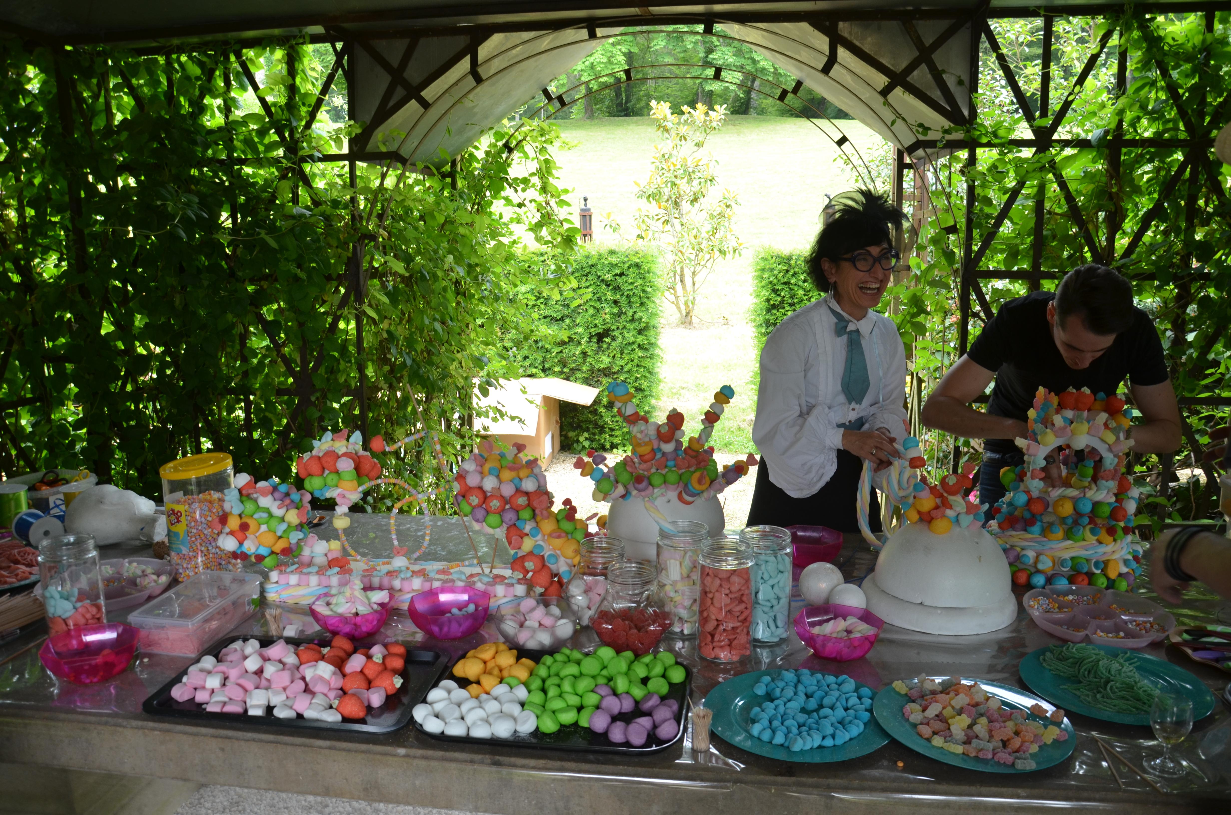Atelier construction gateaux en bonbons