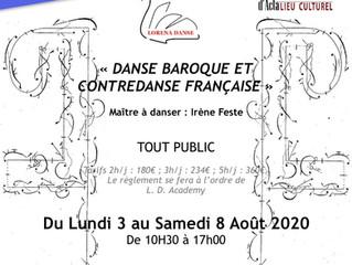 Stage de Danse Baroque et Contredanse Française