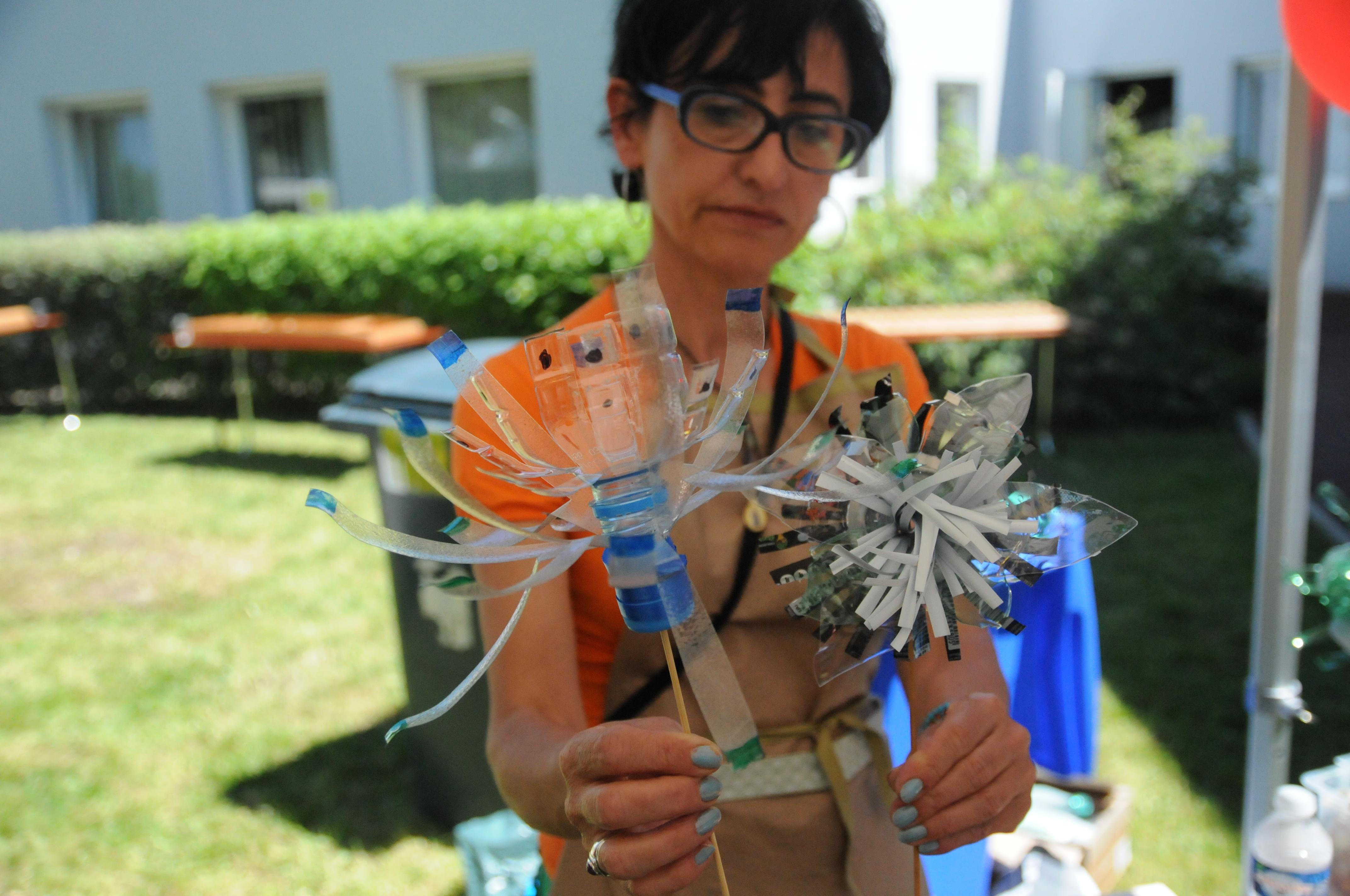 Atelier participatif Fleur Recyclée
