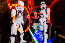groupe personnages star wars light painting