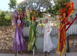 Nos 4 saisons à l'inauguration des allées J Jaurès de Montrouge ont ravis le public