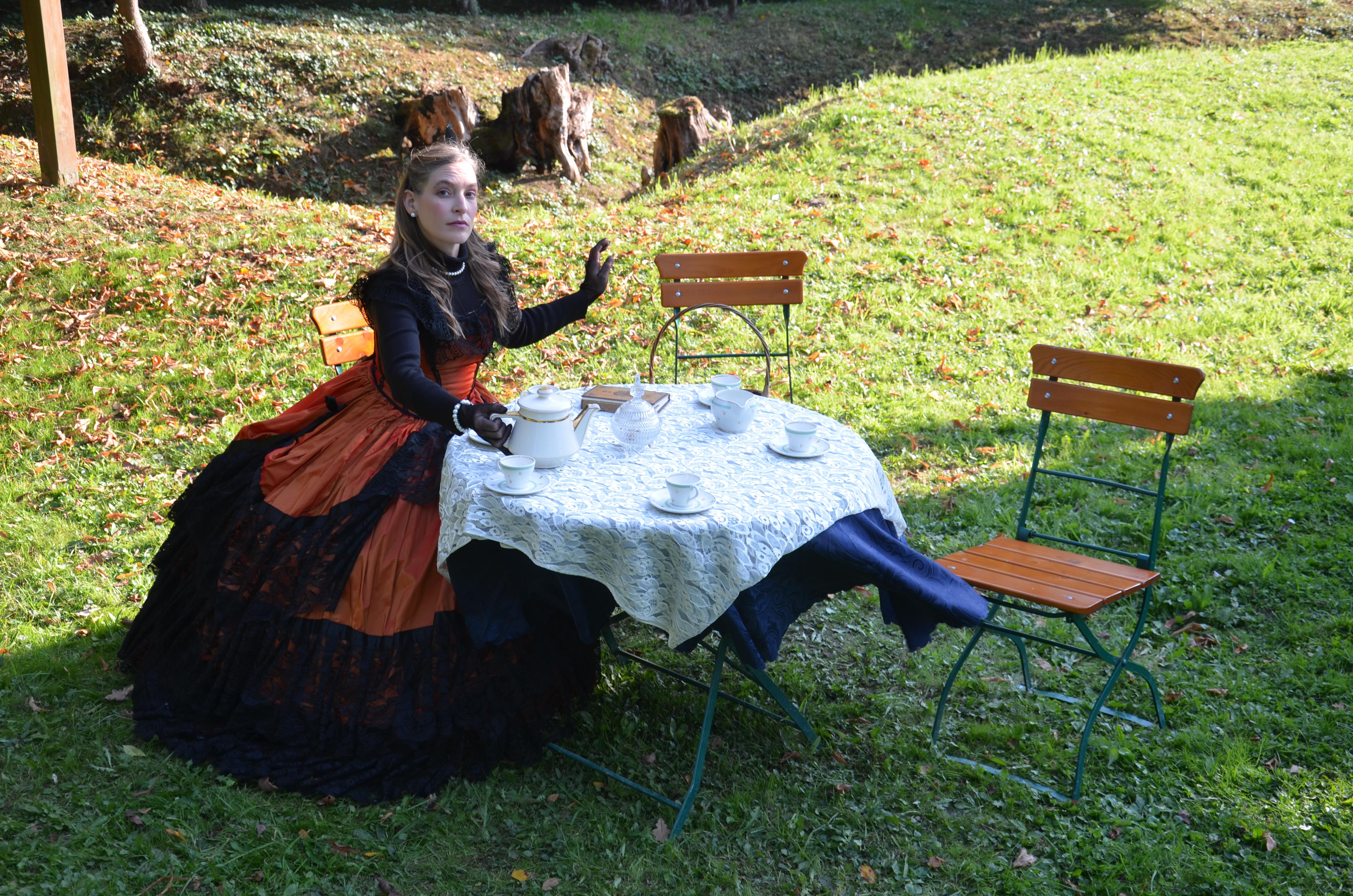 Salon de thé en pleine nature