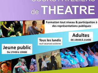 1er cours de théâtre le lundi 3 octobre 2016 au StudiO
