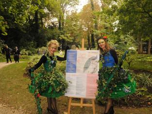 Les Femmes Fleurs étaient à Créteil pour la Fête des Parcs et Jardins