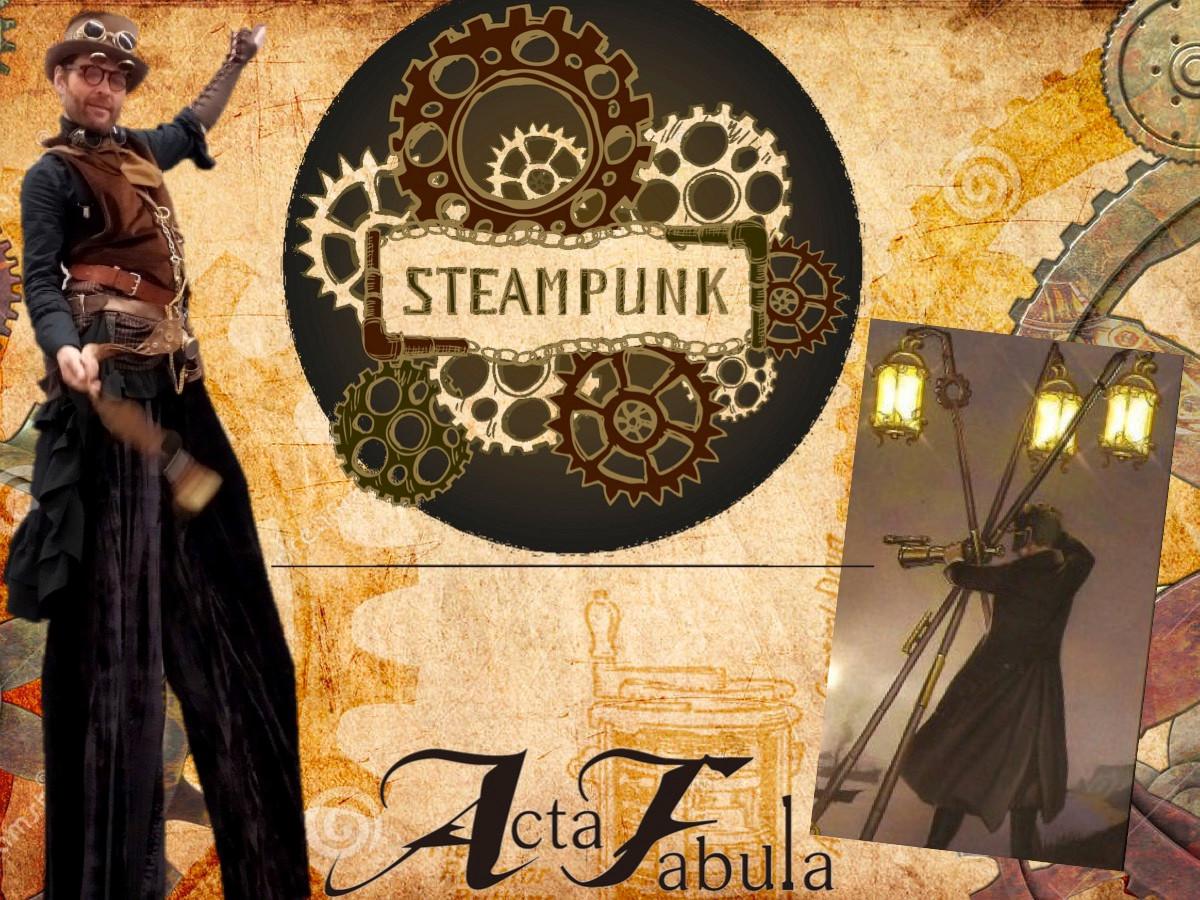 personnages steampunk retrofuturiste