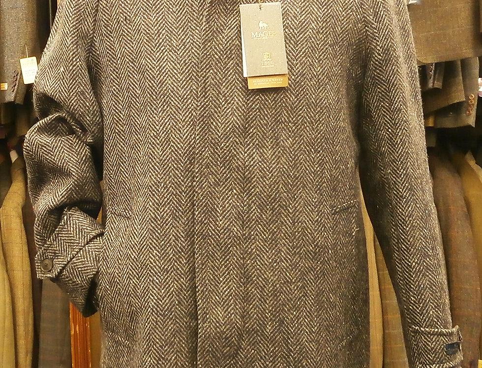 Magee Erne Overcoat in charcoal herringbone