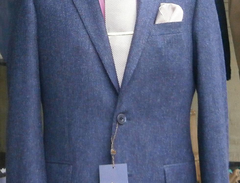 Magee Blue Herringbone Jacket