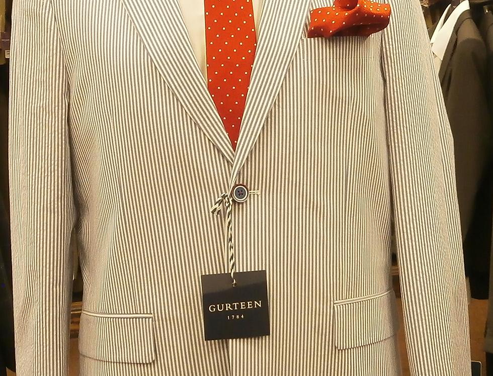 Gurteen all Cotton Blue/White Striped Summer Jacket