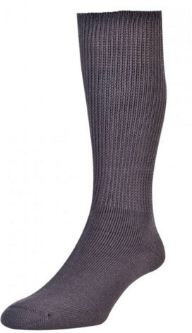 HJ1351 Diabetic Sock - Cotton - Mid-Grey
