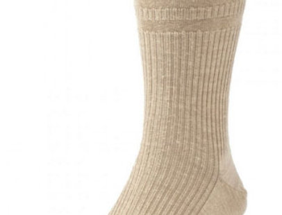 HJ190 Extra Wide Softop, Wool Rich Socks - Oatmeal