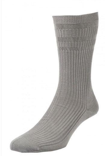 HJ191 Extra Wide Softop Cotton Rich Socks - Grey