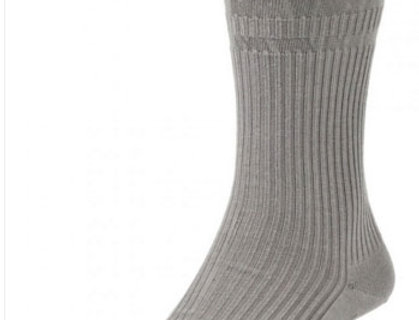 HJ191 Extra Wide Softop Cotton Rich Socks - Grey