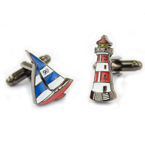 Lighthouse and Boat Cufflinks