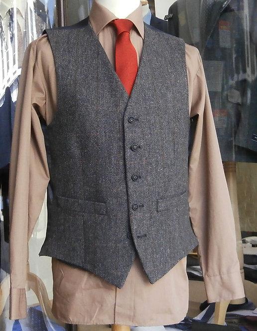 Scott Charcoal Herringbone Waistcoat