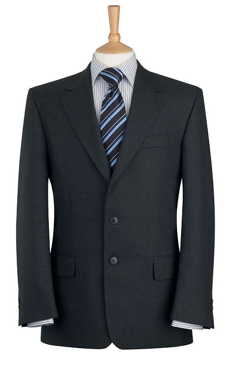 Brook Taverner Classic Suit Jacket in Charcoal