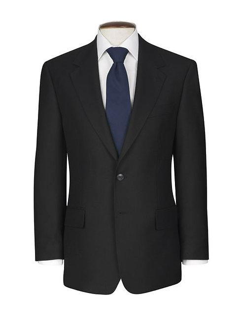 Brook Taverner Classic Suit Jacket in Black.