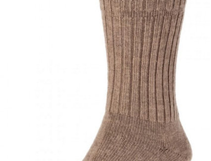 HJ95 Thermal Softop Wool Rich Socks - Taupe