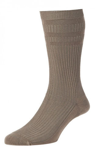 HJ91 Softop Original Cotton Socks Mink