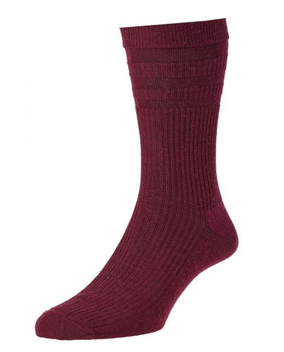 HJ90 Softop Original Wool Rich Socks Burgundy