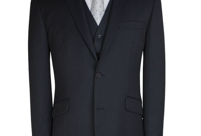 Scott by the Label Charcoal Sharkskin Suit