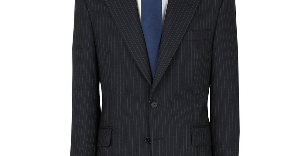 The Label Suit in Navy Pin Stripe