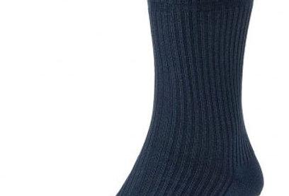 HJ191 Extra Wide Softop Cotton Rich Socks -Navy