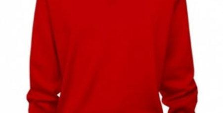 Gabicci Classic V-Neck Pullover Red