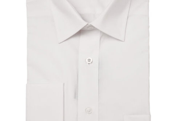 Peter England White Double Cuff Shirt