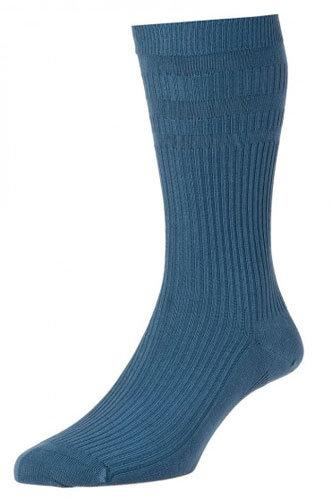 HJ91 Softop Original Cotton Socks Slate Blue