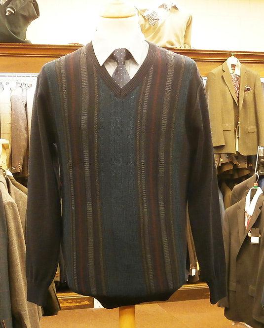 DG's Prestige Navy V Neck Pullover