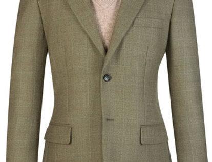 Brook Taverner Camberley Jacket Olive Check