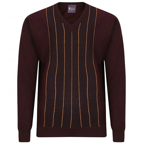 Gabicci patterned V neck pullover