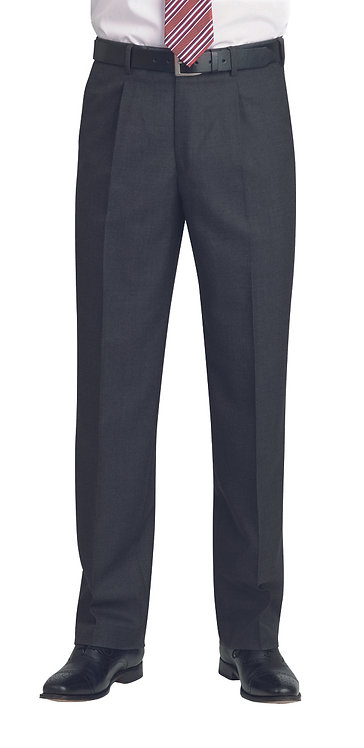 Brook Taverner Classic Suit Trousers in Charcoal