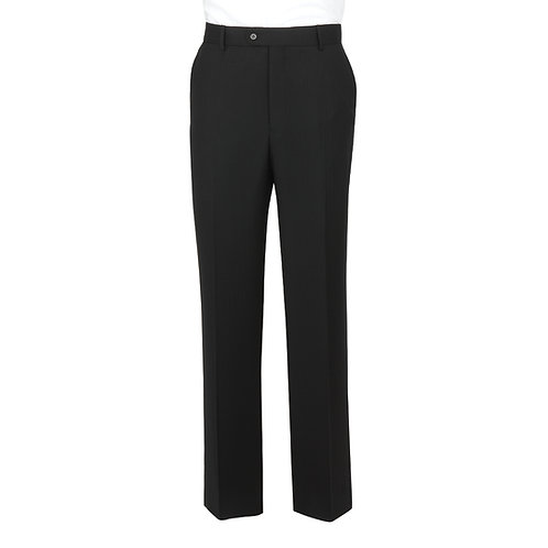 Label Navy Herringbone Suit Trousers