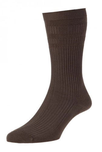 HJ91 Softop Original Cotton Socks Brown