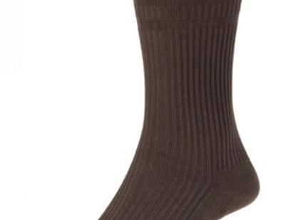 HJ91 Softop Original Cotton Socks Brown